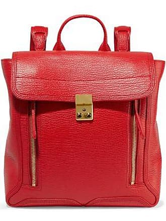 3.1 Phillip Lim 3.1 Phillip Lim Woman Pashli Textured-leather Backpack Tomato Red Size