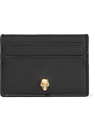 Alexander McQueen Embellished Textured-leather Cardholder - Black
