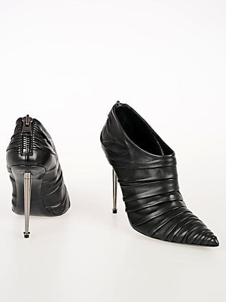 Tom Ford 10cm Frilled Leather Ankle Boots size 40