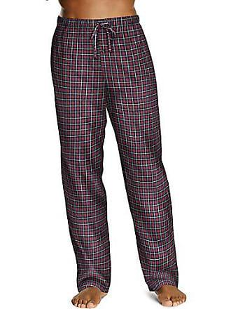Hanes Mens ComfortSoft Cotton Printed Lounge Pants Black Graph Plaid 2XL