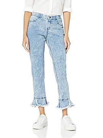760901c11e4935 Hue Womens Fashion Denim Jean Skimmer Leggings, Tulip Flare hem/cloud Wash  XS