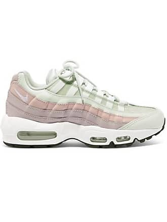 Nike Air Max 95 Suede, Mesh And Leather Sneakers - White