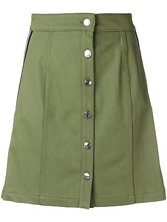 être cécile a-line button skirt - Green