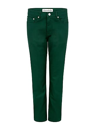être cécile GIRLFRIEND CROPPED JEANS Army Green