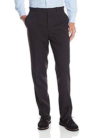U.S.Polo Association Mens Flat Front Pant, Black Stripe, 40W x 30L