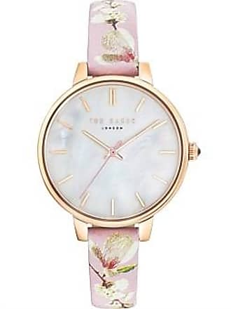 39fd204c3b83 Ted Baker Kate Mother Of Pearl Dial   Pink Floral Band