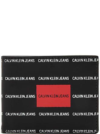 Calvin Klein Carteira Couro Calvin Klein Lettring Preta/Vermelha