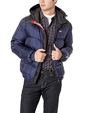 1109436a Tommy Hilfiger Tommy Jeans Mens Puffer Jacket with Down Fill Classics  Collection, iris/Tommy