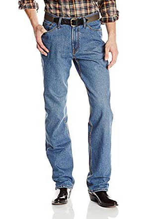 Stetson Mens 1520 Standard Straight Leg Fit Jean,Heavy Distressed Medium Stone Wash with X Back Pocket Embroidery, 28x40