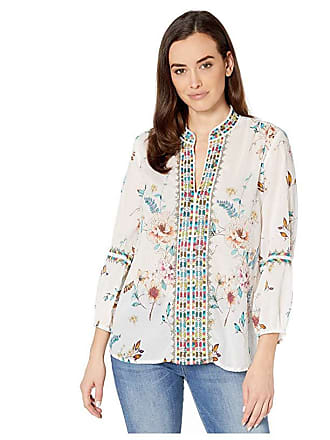 Johnny Was Effortless Paris Blouse (Multi) Womens Clothing