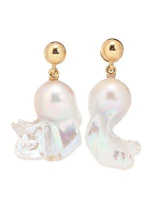 Oscar De La Renta Freshwater pearl drop earrings