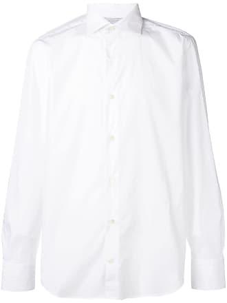 Eleventy Camisa slim mangas longas - Branco