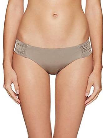 5f454f14acf56 Trina Turk Womens Solid Side Shirred Hipster Bikini Swimsuit Bottom,  Taupe/Key, 8