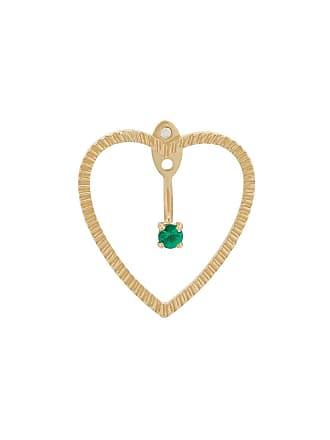 Yvonne Léon 18kt gold and emerald Heart Earrings