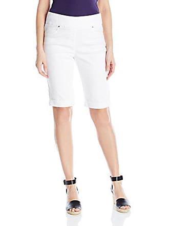 Ruby Rd. Womens Pull-on Extra Stretch Cuffed Denim Short, White 14