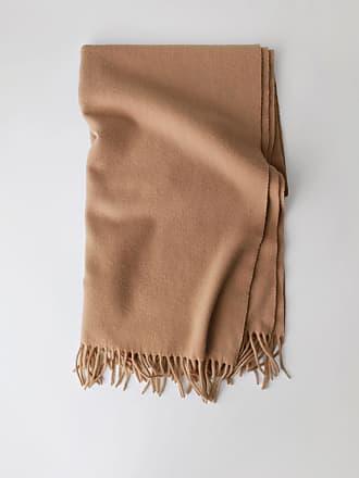 Acne Studios Canada New Caramel brown Fringed scarf