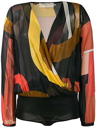 L'autre Chose geometric pattern body blouse - Black