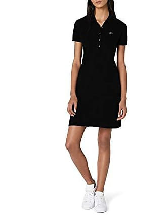 4adca79f34 Lacoste EF8470 Robe, (Noir), (Taille Fabricant : 44) Femme