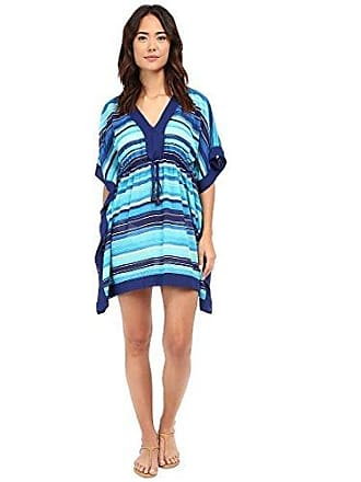 2ac5775995 Ralph Lauren Lauren Ralph Lauren Womens Sunset Stripe Sydney Tunic Cover-Up,  Blue,