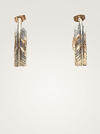 MASSIMO DUTTI FEATHER HOOP EARRINGS