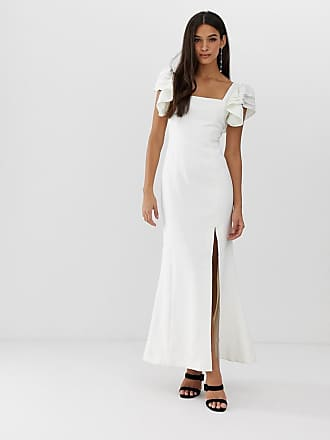 C/Meo Collective C/Meo Collective heart of me ruflfe gown - White