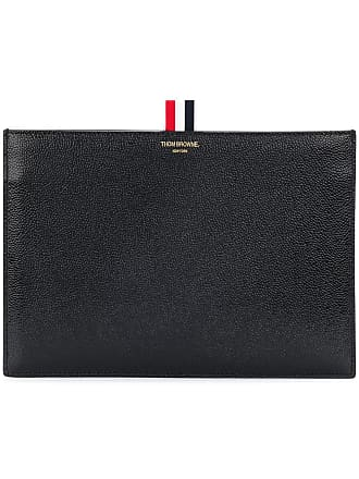 Thom Browne pebbled clutch - Black