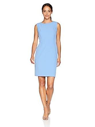 162b943f424 Kasper Womens Petite Sleeveless Jewel Neck Stretch Crepe Dress