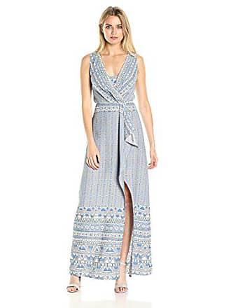 Bcbgmaxazria BCBGMax Azria Womens Koko Woven Sleeveless Dress with Slit, Dove Combo, 4