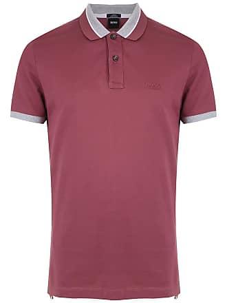 HUGO BOSS Camisa polo com logo - Roxo