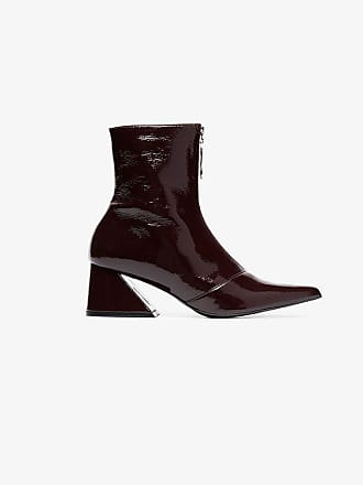 Yuul Yie burgundy 60 zipped patent leather boots
