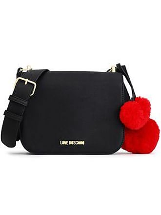 24ff69136d6 Love Moschino Love Moschino Woman Pompom-embellished Faux Leather Shoulder  Bag Black Size