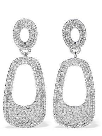 Kenneth Jay Lane Cz By Kenneth Jay Lane Woman Silver-tone Crystal Earrings Silver Size