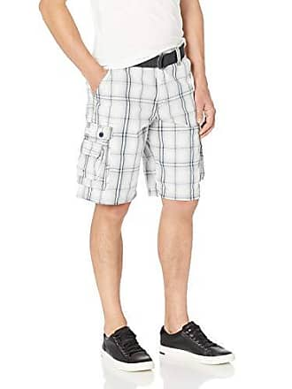 Lee Mens Dungarees New Belted Wyoming Cargo Short, Gray Winston Plaid 40