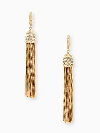 Kate Spade New York Glimmer Shimmer Huggie Earrings, Clear/Gold