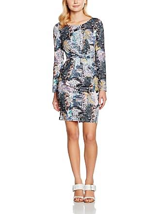 adb5cd0744b Yumi Womens Tree Printed Jersey Floral Long Sleeve Dress, Multicoloured  (Multi),12