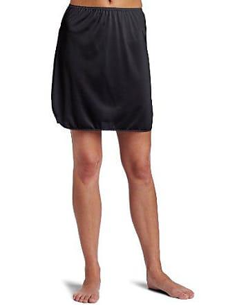 Vanity Fair Womens Plus Size Tricot Double Slit Half Slip 11717, Midnight Black, Medium (18 Length)