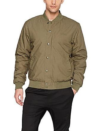 Obey Mens Ranks Regular Fit Bomber Jacket, Dull Army, S