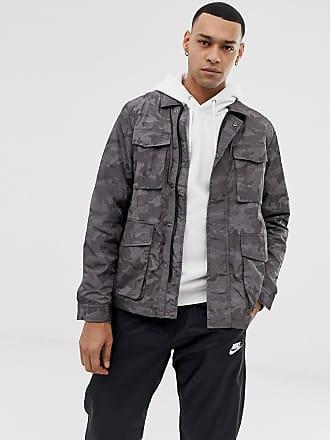 b9c5d35233a75 Asos Chaqueta uniformada gris con estampado de camuflaje de ASOS DESIGN
