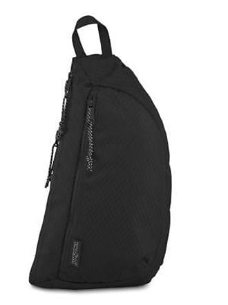 Jansport City Sling Crossbody Bag Messenger Bags - Black Woven Knit