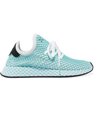 huge selection of 3cb08 7a46b adidas Originals + Parley Deerupt Runner Sneakers Aus Mesh Mit  Velourslederbesatz - Blau
