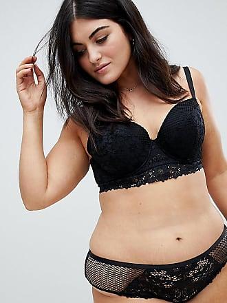 b1bc99bd1f8 New Look Plus New Look Curve cotton longline bra in black - Black