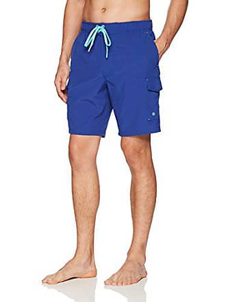 ZeroXposur Mens Axed Solid 4 Way Stretch Board Short, Royal, X Large