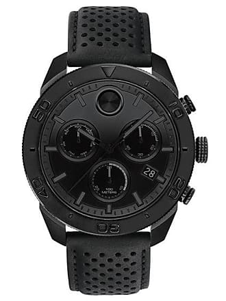 Zales Mens Movado Bold Chronograph Black IP Strap Watch with Black Dial (Model: 3600517)