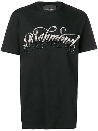 John Richmond Camiseta com logo e aplicações - Preto