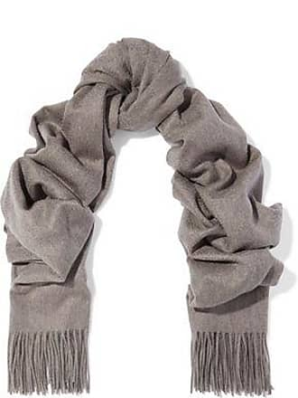 N.Peal N.peal Woman Fringe-trimmed Cashmere Scarf Taupe Size