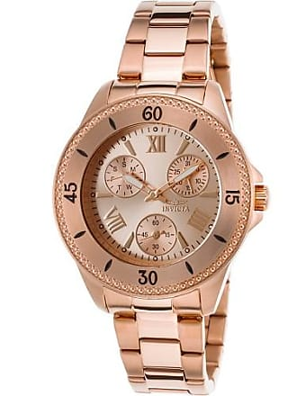 Invicta Watches Womens Angel Multi-Function 18K Gold Plated Stainless Steel Watch