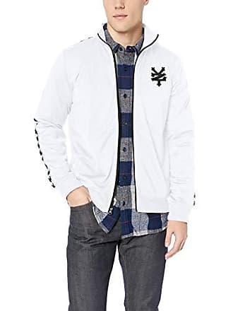 Zoo York Mens Jacquard Taped Zipper Jacket, White, Small