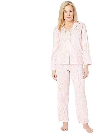 e9e4a40335 Ralph Lauren Petite Pointed Notch Collar Pajama Set (Pink Paisley Print)  Womens Pajama Sets