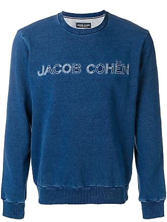 Jacob Cohen Moletom com logo bordado - Azul