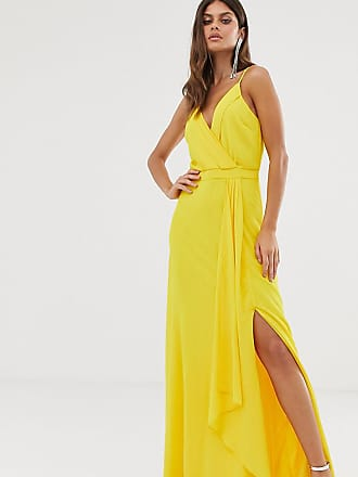b6bb56d72071 Tfnc cami wrap maxi dress with fishtail in yellow - Yellow